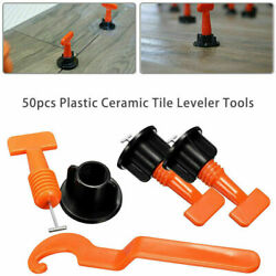 50PC Flat Ceramic Floor Wall Construction Tools Reusable Tile Leveling System US $17.83