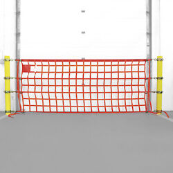 Existing Bollard Ring Safety Net Package 4ft x 20ft Net 6.75in to 7.625in Rings