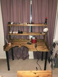 Jewelers Work Bench with2 slanted shelves products and supplies