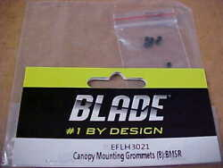 BLADE HELICOPTER PART ELFH3021 = CANOPY MOUNTING GROMMETS 8 : BMSR NEW $5.00