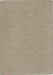 10x13 Milliken White Striped Banded Area Rug Cleveland MARBLE - Aprx 10 9 x 13 2