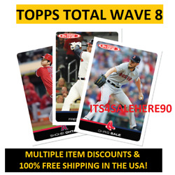 2019 Topps Total Wave 8 Singles - YOU PICK - DISCOUNTS FOR MULTIPLE ITEMS
