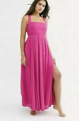 NEW Free People Yes Please Maxi Dress Endless Summer Size Small Pink $63.75