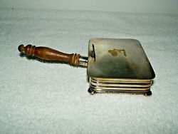 Apollo Silver Plate Waiter Silent Butler Crumb Tray Wood Handle