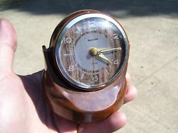 Vintage 50s auto dash clock alarm magnetic swivel gm pontiac ford chevy hot rod