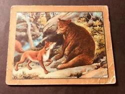 1910 T57 Turkish Trophies Cigarettes Fable Series The Bear and the Fox