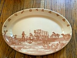 Wallace China Chuck Wagon Oval Serving Platter EL PASO HOTEL SUPPLY CO.
