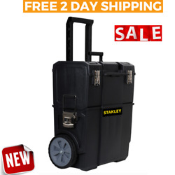 MOBILE TOOL BOX Storage Organizer Rolling Chest Cart Wheels Portable Toolbox