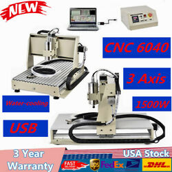 ROUTER USB 3 Axis CNC 6040 1500W Engraver+Milling Machine Cutter Water-cooling