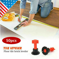 50xReusable Flat Ceramic Floor Wall Construction Tools Tile Leveling System Kit