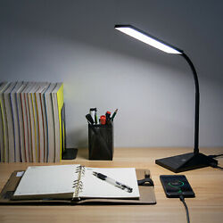 Dimmable LED Clip-On Base Lamp USB Desk Bedside Table Eye-Caring Read Book Lamp
