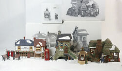 4 DEPT 56 DICKENS VILLAGE Crooked Fence Cottage The Old Curiosity Shop Maltings