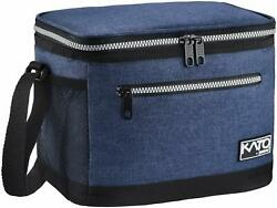 Insulated Lunch Bag Meal Prep Lunch Bag Leakproof 4 Pockets Dark Blue