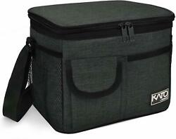 Insulated Meal Prep Lunch Bag with 4 Pockets for Adult & Kids Leakproof
