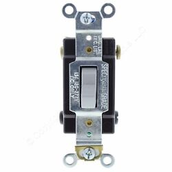 Cooper Gray 4-Way COMMERCIAL Toggle Wall Light Switch 15A 120277V Bulk CSB415GY $7.99