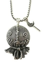 Classic Horror Trick 'R Treat Burlap Sam Mask Metal Pendant Necklace