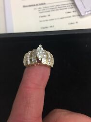 Marquise Diamond Engagement Wedding Ring Gia Certified And Appraised