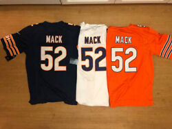 NEW #52 Khalil Mack MEN'S Chicago Bears NavyBlueOrangeWhite Stitched Jersey