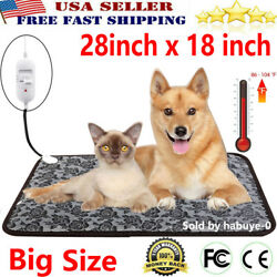Large Electric Waterproof Pet Heated Warm Pad Puppy Dog Cats Bed Mat Heater Mats $70.99