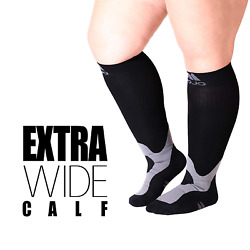 4XL Mojo Compression Socks for Larger Ankles and Wide Calf - Plus Sized Support