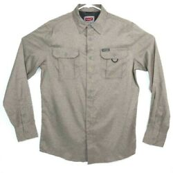Wrangler Mens Small Outdoor Series Long Sleeve Button Down Shirt $20.54
