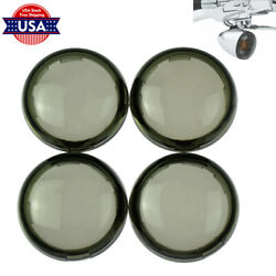 4Pcs Smoke Turn Signal Lens Cover Fit For Harley Dyna Softail Sportster 2000-up $8.97