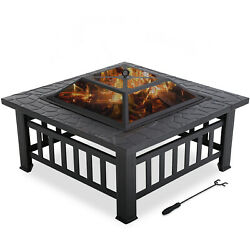 Outdoor fire pit for wood 32