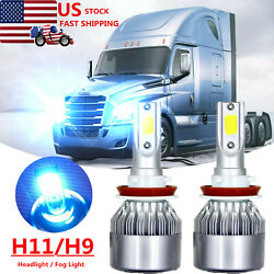 LED Headlight bulbs For 2008-2016 Freightliner Cascadia Commercial Truck 8000K