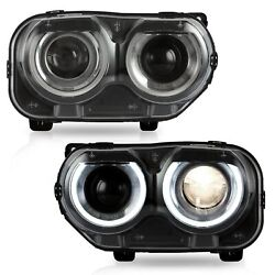 LED Headlights with DRL Dual Beam Assembly for 2015-2020 Dodge Challenger