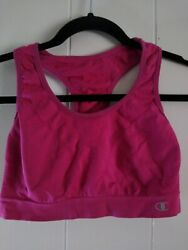 Champion Bra Workout Athletic Sport Pink Top SZ M Stretch D1 $8.99