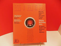 WIRED MAGAZINE 5.01 Jan 1997 VTG NMint ABSOLUT DOUBLE AD Alien Research HAL 9000