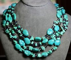 Vintage In Seattle Gorgeous Faux Turquoise Necklace Lot#356