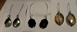 COSTUME JEWELRY FASHION EARRING LOT 3 PAIRS