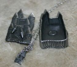 Torino Pewter Castle Earrings Pin Necklace & Jewelry Box
