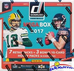 2017 Donruss Football EXCLUSIVE Factory Sealed 10 Pack MEGA Box w3 HOBBY PACKS! $119.95