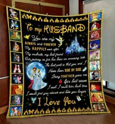 Disney To My Husband You're My Happily Ever After Halloween Gift Fleece Blanket
