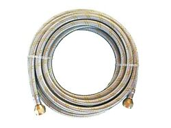 Natural Propane Gas Hose 10ft Stainless Steel Braided Line Grill parts LP LPG