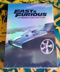 Fast and Furious: 8-Movie Collection (DVD 2017 9-Disc Set) NEW