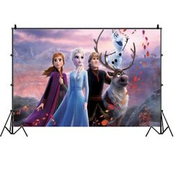Frozen Photography Backdrop Girls Birthday Party Photo Background Banner Decor $8.99