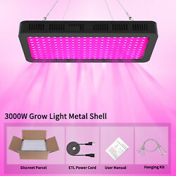 3000W LED Grow Light Full Spectrum Indoor Hydroponic Horticulture Growing Panel $71.63