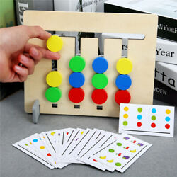 Kids Four-Color Fruit Matching Game Montessori Wooden Toys Gadget HO3