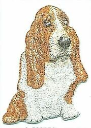 3quot; Brown White Basset Hound Dog Breed Embroidery Patch $2.99