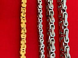 7quot; 50quot; STAINLESS STEEL SILVER 4 6 8MM BYZANTINE TURKISH BOX CHAIN NECKLACE $9.74