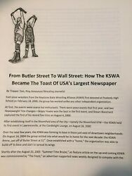 KSWA Wrestling: From Butler Street To Wall Street feature story