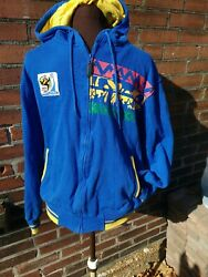 World Cup Soccer South Africa hoodie Jacket 2010 FIFA Football rare adult med