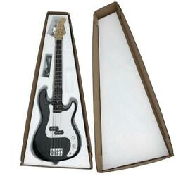 New Glarry Black 4 Strings Right Handed Practice Electric Bass Guitar
