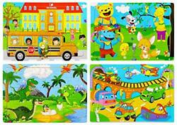 Wooden Jigsaw Puzzles Set for Kids Age 2-6 Year Old 30 Piece Colorful Wooden