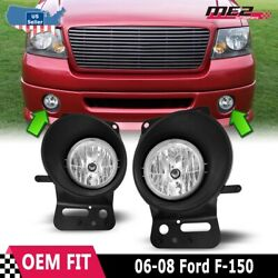 Fits 06-08 Ford F-150 Clear Lens PAIR OE Bumper Replacement Fog Light Lamps DOT $55.47