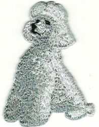 2quot; x 2 7 8quot; Gray Grey Sitting Poodle Dog Breed Embroidery Patch $2.99