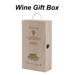 Wooden Wine Box Double Bottle Strap Crates Shell Gift Decor Home Decoration New
